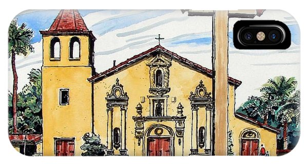Mission Santa Clara De Asis IPhone Case