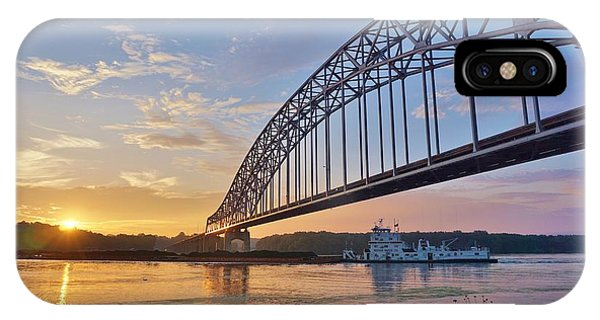 iPhone Case - Mississippi Sunrise Crossing by Red Cross