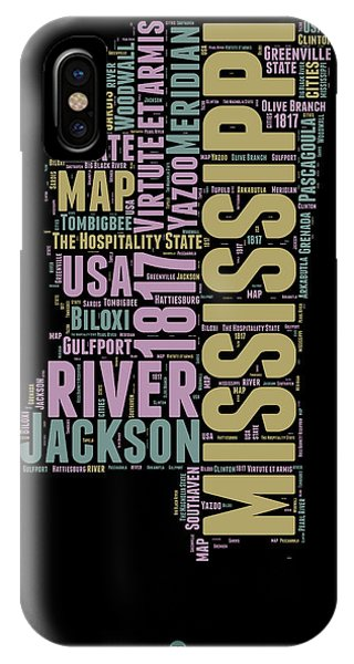 Mississippi Word Cloud 1 IPhone Case