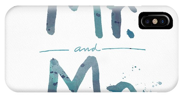 Blue And White iPhone Case - Mister And Mister  by Linda Woods