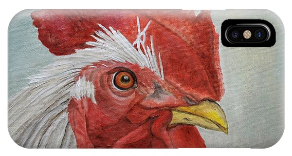 IPhone Case featuring the painting Mister Rooster by Angeles M Pomata