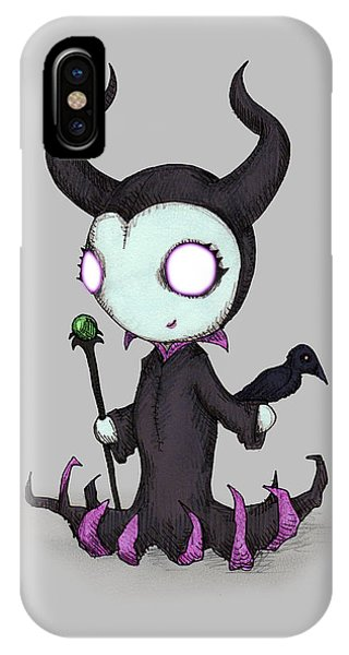 Raven iPhone Case - Mistress Of All Evil by Ludwig Van Bacon