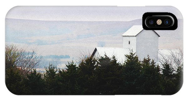 IPhone Case featuring the photograph Misty Autumn Kansas Countryside by Anna Louise