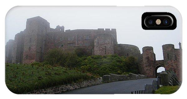 Misty Bamburgh Castle IPhone Case