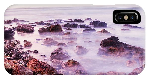 Stone Wall iPhone Case - Misty Bay by Jorgo Photography - Wall Art Gallery