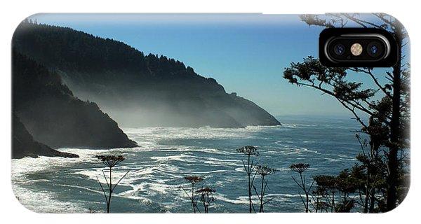 Misty Coast At Heceta Head IPhone Case
