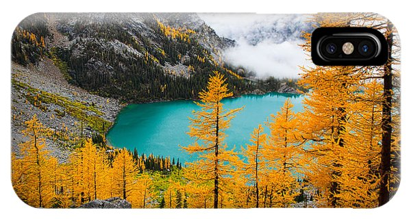 Deciduous iPhone Case - Misty Colchuck Lake by Inge Johnsson