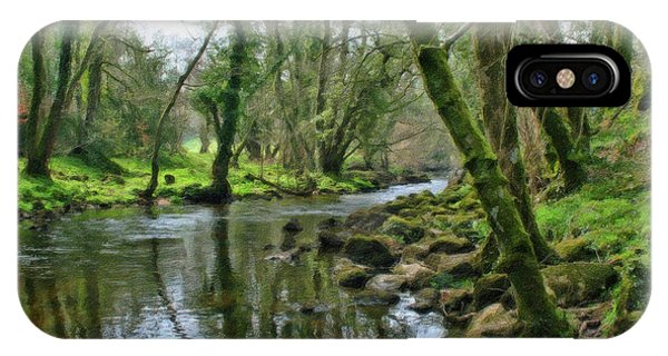 Misty Day On River Teign - P4a16017 IPhone Case