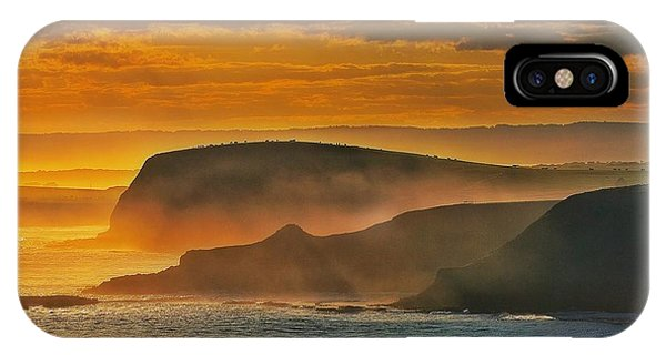 Misty Island Sunset IPhone Case