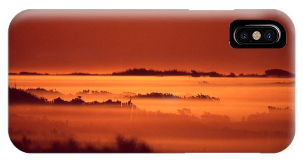 Misty Meadow At Sunrise IPhone Case