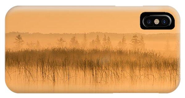 Misty Morning Floating Bog Island On Boy Lake IPhone Case