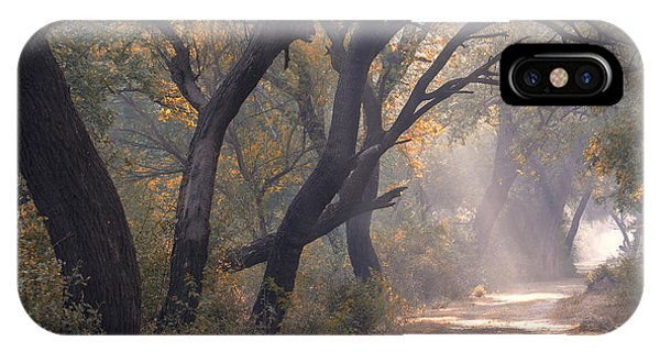 IPhone Case featuring the photograph Misty Morning, Bharatpur, 2005 by Hitendra SINKAR