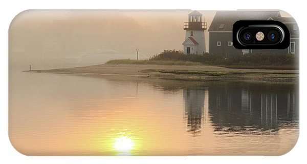 Misty Morning Hyannis Harbor Lighthouse IPhone Case