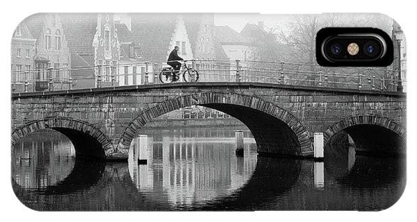Misty Morning In Bruges  IPhone Case