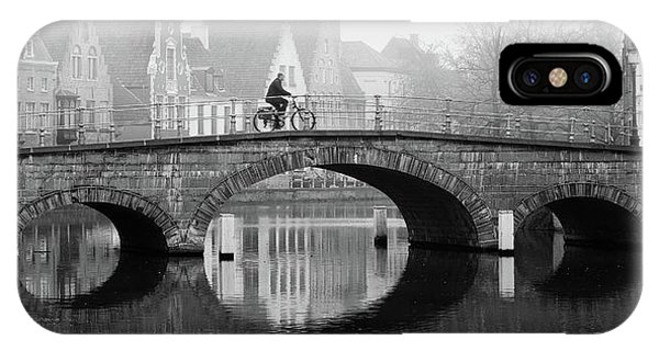 IPhone Case featuring the photograph Misty Morning In Bruges  by Barry O Carroll