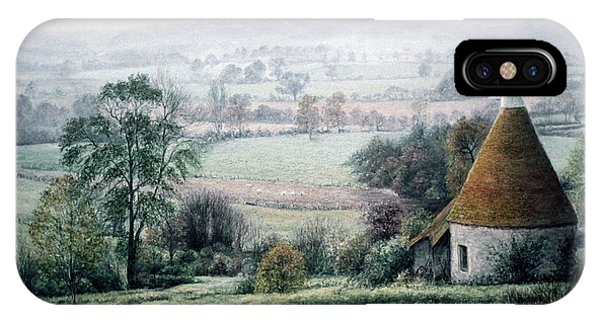 Misty Morning In The Weald IPhone Case