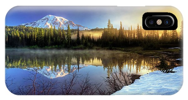 Misty Morning Lake IPhone Case