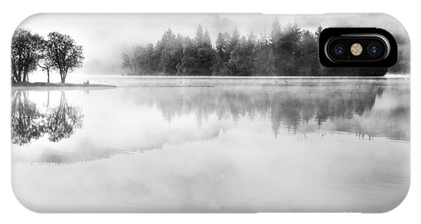 Loch Ard iPhone Case - Misty Morning At Loch Ard by Janet Burdon