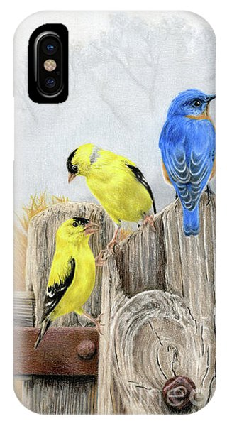 Finch iPhone Case - Misty Morning Meadow by Sarah Batalka