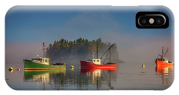 Misty Morning On Johnson Bay IPhone Case