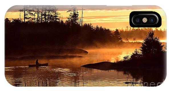 Misty Morning Paddle IPhone Case