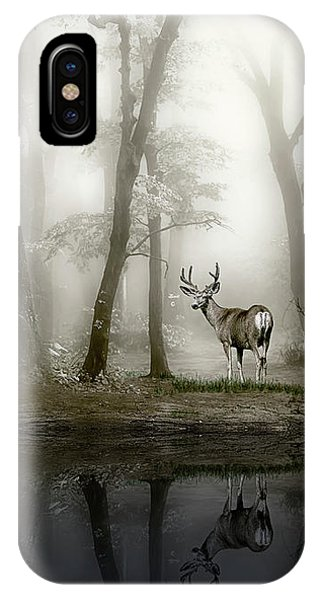 Misty Morning Reflections IPhone Case