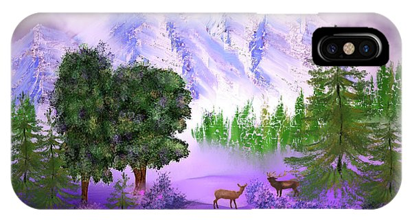 Misty Mountain Deer IPhone Case