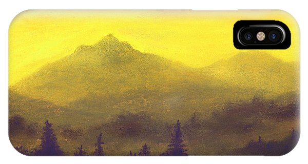 Misty Mountain Gold 01 IPhone Case