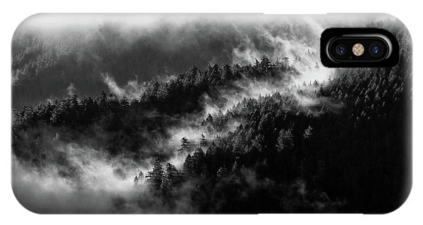 IPhone Case featuring the photograph Misty Mountain Pines by Michael Hope
