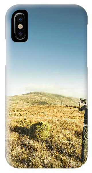 Explorer iPhone Case - Misty Mountain Travels by Jorgo Photography - Wall Art Gallery