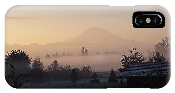 Misty Mt. Rainier Sunrise IPhone Case