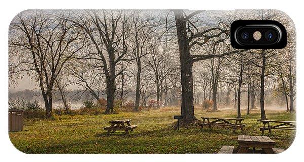 Misty November Picnic Grove IPhone Case