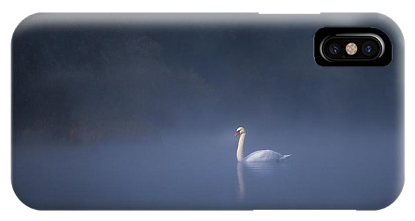 Misty River Swan IPhone Case