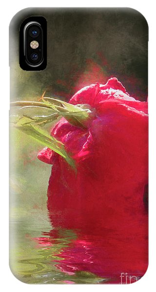 IPhone Case featuring the photograph Misty Rose Reflections by Elaine Teague