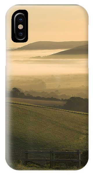 Misty South Downs IPhone Case