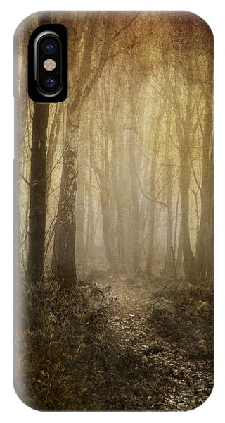 Misty Woodland Path IPhone Case