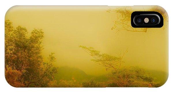 Misty Yellow Hue- El Valle De Anton IPhone Case