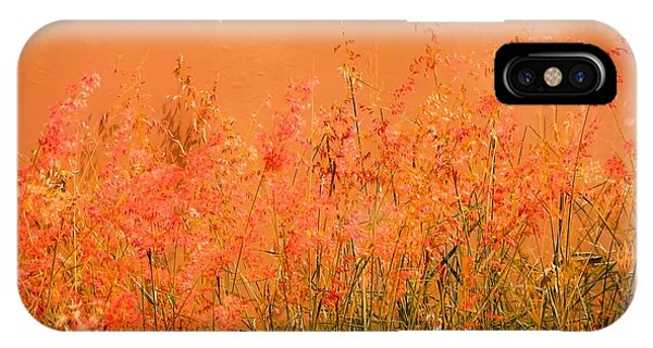 Misty Yellow Hue- Pink Blooms IPhone Case