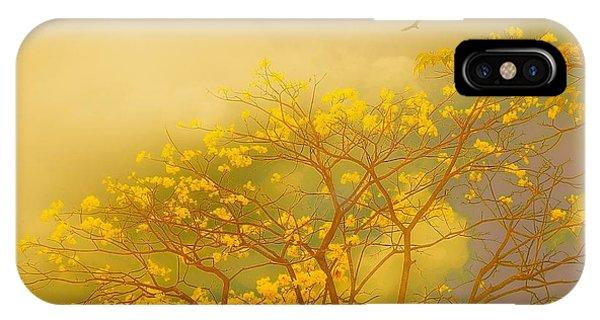 Misty Yellow Hue -poui IPhone Case