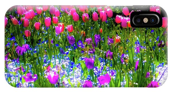 Mixed Flowers And Tulips IPhone Case