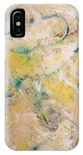 Mixed-media Free Fall IPhone Case