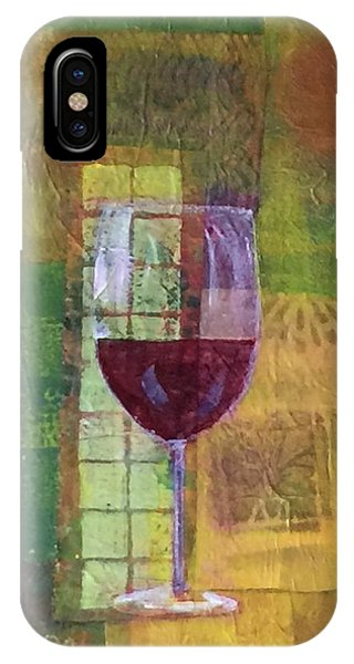 Mixed Media Painting Wine IPhone Case