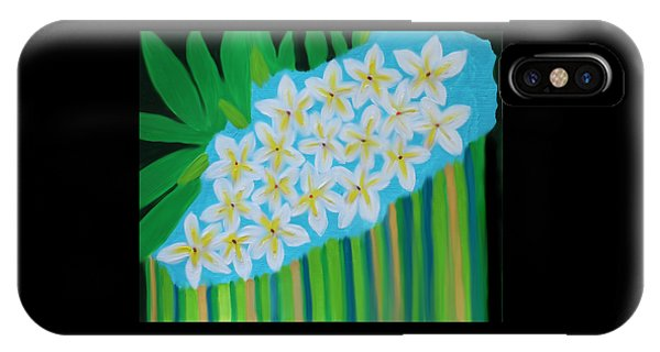 IPhone Case featuring the painting Mixed Up Plumaria by Deborah Boyd