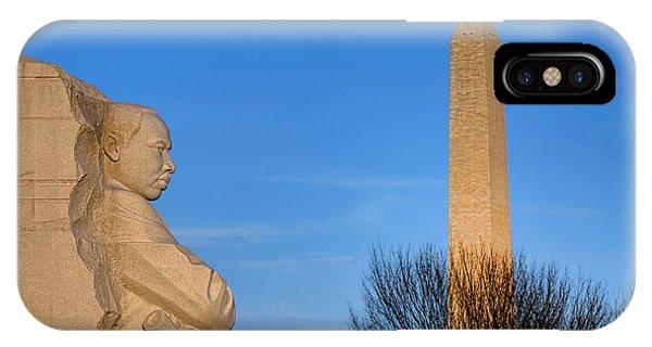Mlk And Washington Monuments IPhone Case
