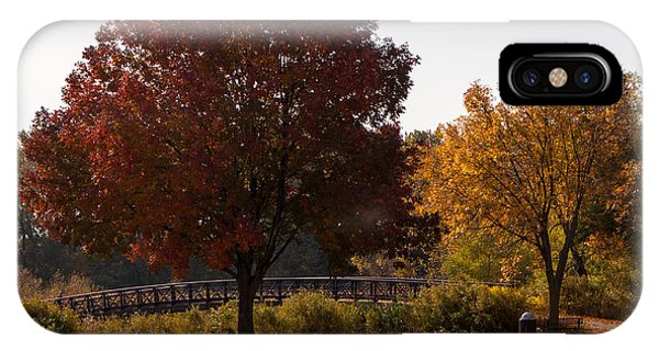 Centennial Bridge iPhone Case - Mn Fall Colors by Arnold Hence