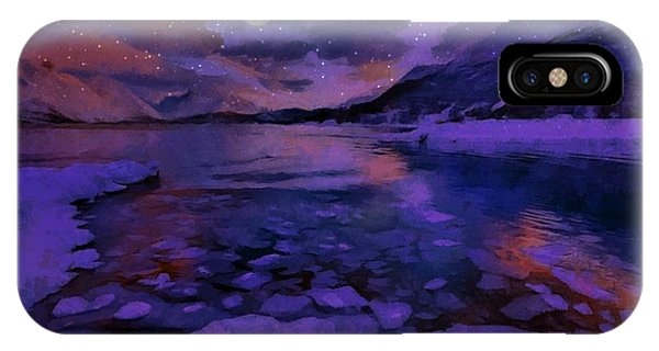 Mnon Over The Frozen Lands IPhone Case