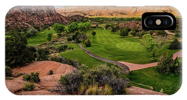Moab Desert Canyon Golf Course At Sunrise IPhone Case