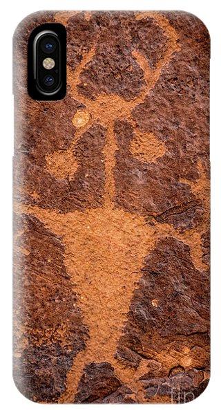 Moab Man Petroglyph Portrait - Utah IPhone Case
