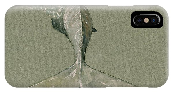 Nautical iPhone Case - Moby Dick The White Sperm Whale  by Juan  Bosco