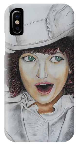Model Smiling IPhone Case